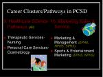 career clusters pathways in pcsd3