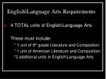 english language arts requirements