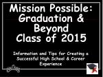 mission possible graduation beyond class of 2015