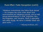 munk effect public recognition cont d