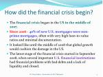 how did the financial crisis begin