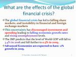 what are the effects of the global financial crisis1