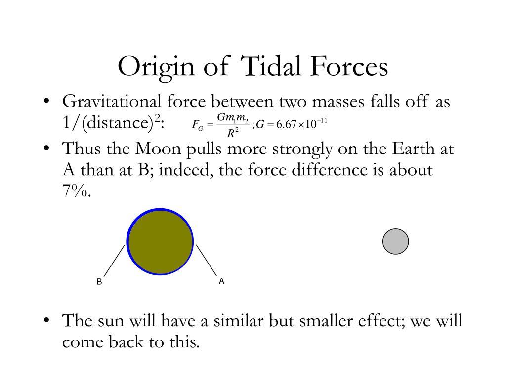 Origin of Tidal Forces
