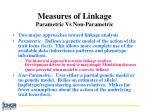 measures of linkage parametric vs non parametric