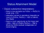 status attainment model