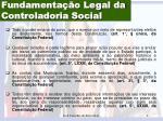 fundamenta o legal da controladoria social