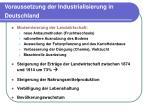 voraussetzung der industrialisierung in deutschland