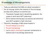 knowledge of microorganisms