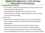modern developments in microbiology branches of microbiology3