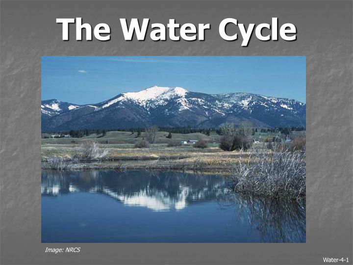 the water cycle n.