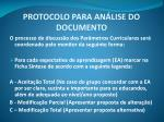 protocolo para an lise do documento1
