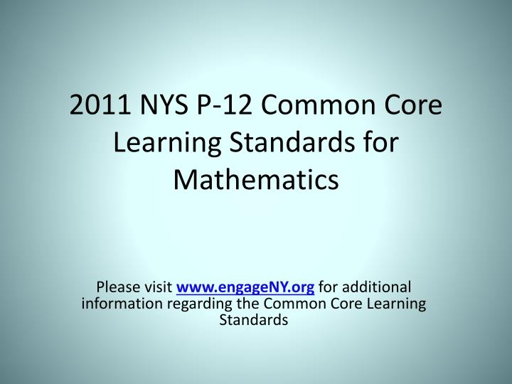 2011 nys p 12 common core learning standards for mathematics n.