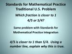 standards for mathematical practice traditional u s problem