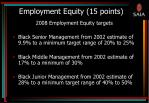 employment equity 15 points