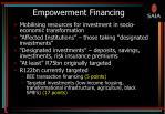 empowerment financing