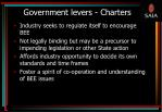 government levers charters