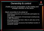 ownership control