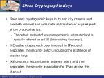 ipsec cryptographic keys