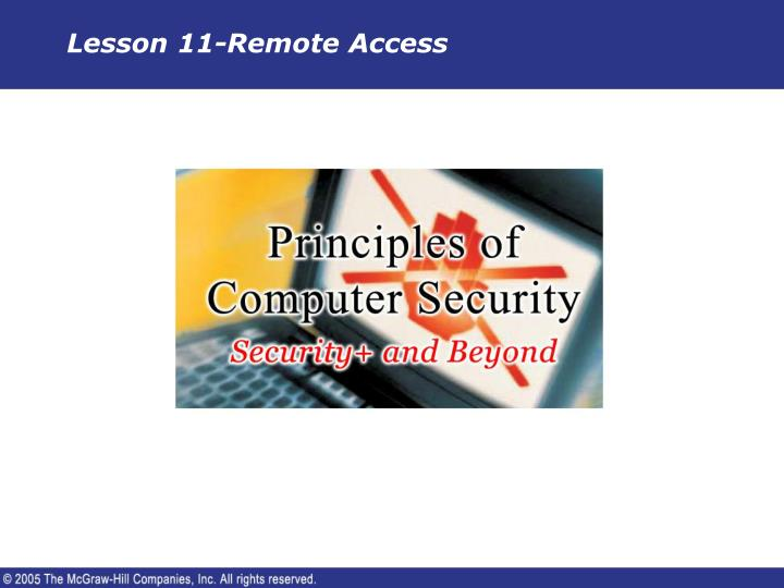 lesson 11 remote access n.
