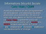 informations s curit sociale carte vitale ceam