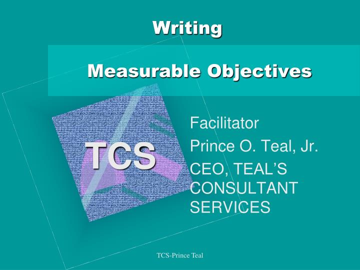writing measurable objectives n.
