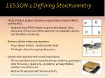 lesson 1 defining stoichiometry2