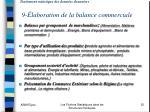traitement statistique des donn es douaniers 9 laboration de la balance commerciale