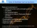 use of distillate fuel as bunkers2