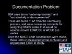 documentation problem