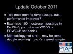 update october 2011