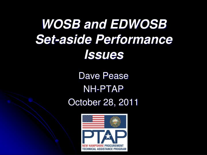 wosb and edwosb set aside performance issues n.