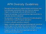 apa diversity guidelines