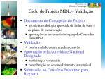 ciclo do projet o mdl valida o