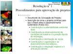 resolu o n 1 procedimentos para aprova o de projetos