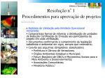 resolu o n 1 procedimentos para aprova o de projetos1