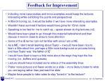 feedback for improvement