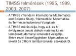timss felm r sek 1995 1999 2003 2007