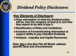 dividend policy disclosures3