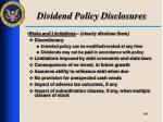dividend policy disclosures4