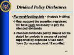 dividend policy disclosures5