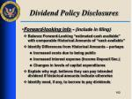 dividend policy disclosures6