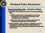 dividend policy disclosures7