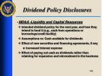 dividend policy disclosures8
