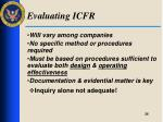 evaluating icfr