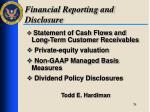 financial reporting and disclosure2