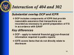 interaction of 404 and 302