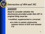 interaction of 404 and 3027