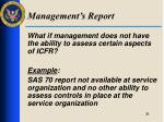management s report2