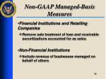 non gaap managed basis measures