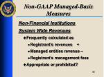 non gaap managed basis measures1